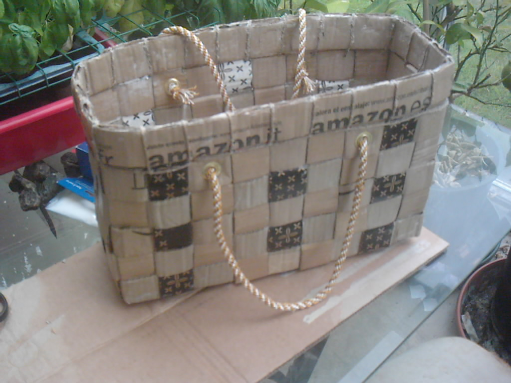 cardboard shopping basket