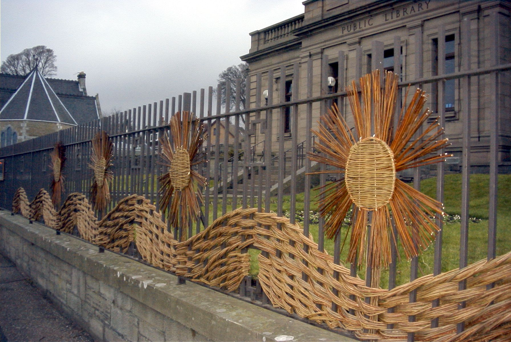 Library railings, Broughty Ferry