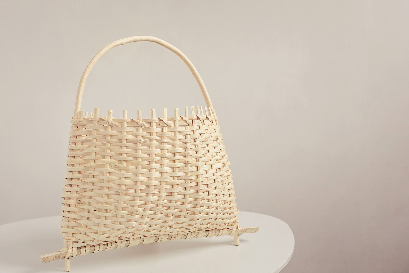 Alba. A Romanian style hazel basket used for picking mountain berries