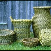 Baskets made from brittany blue/green willow